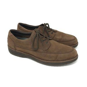 Rockport Vibram Sole Brown Nubuck Leather Shoes 13